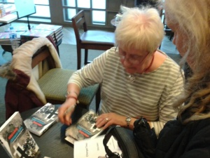 Ethyl Smith signing copies of Changed Times